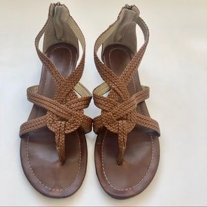 Shoes - Brown Braided Sandals